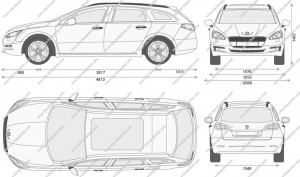 Първа рисунка на Peugeot 508 SW (комби)